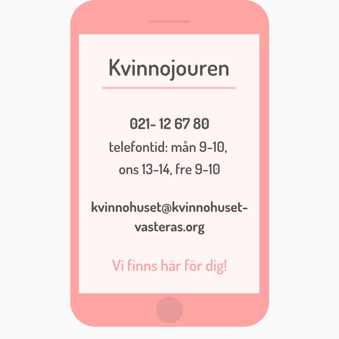 Kontakt Kvinnojouren Västerås telefon