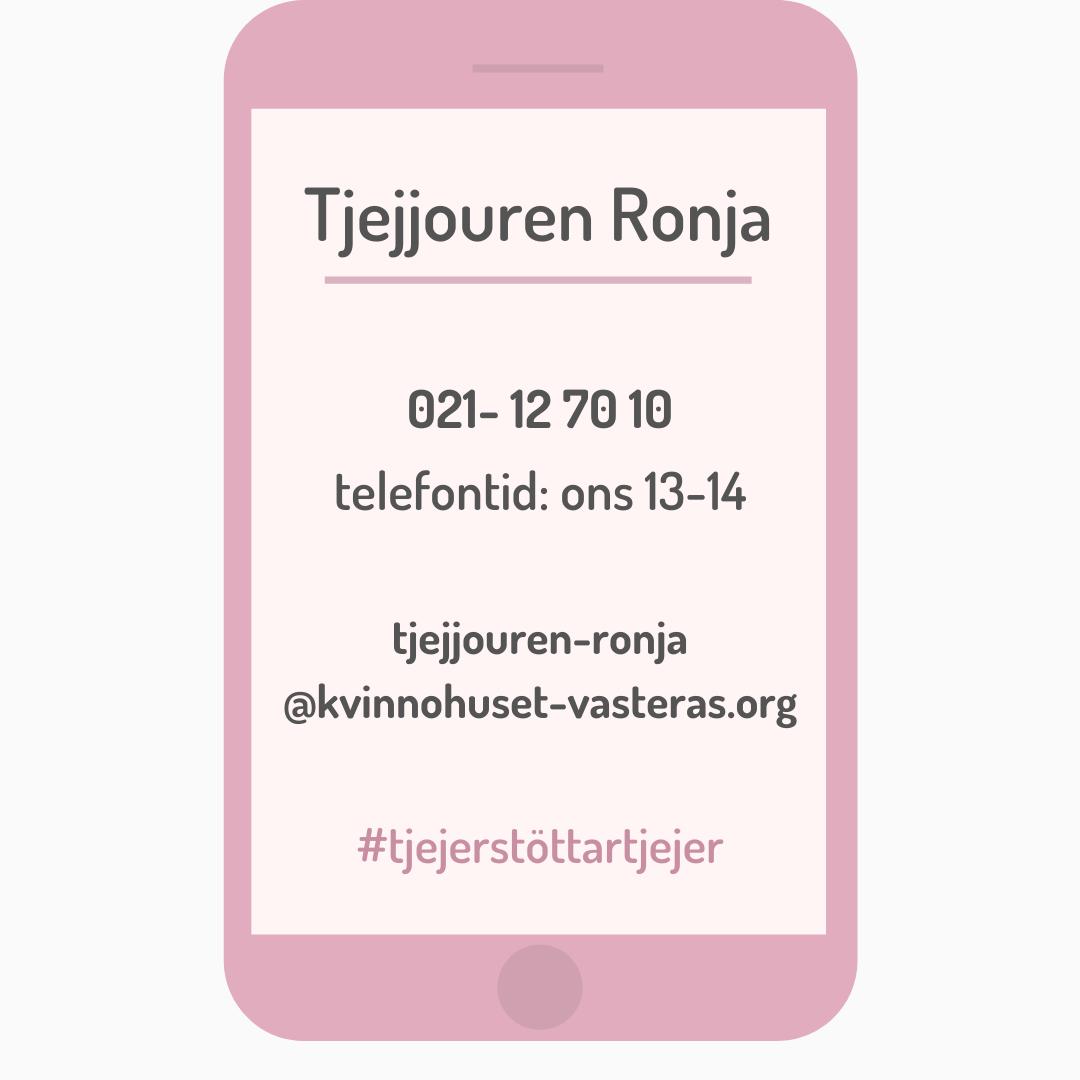 Kontakt Tjejjouren Västerås telefon